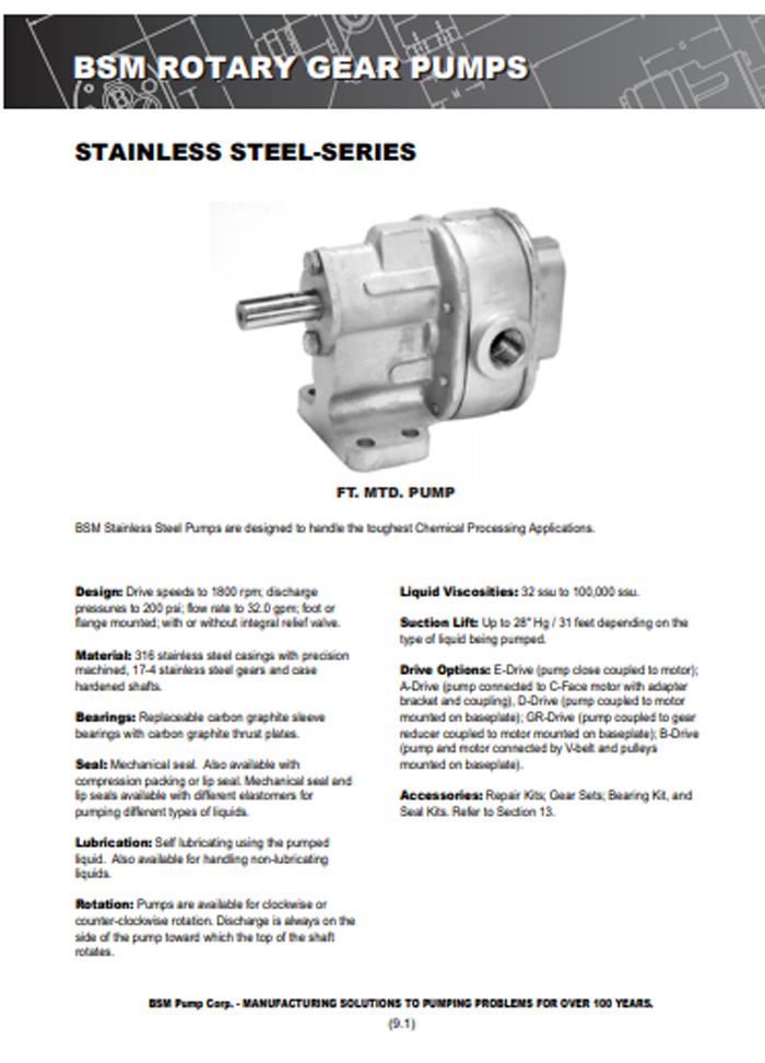 Online Catalog PDF – BSM Pump
